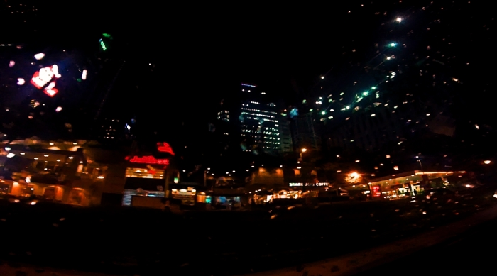 City lights guiding me home.